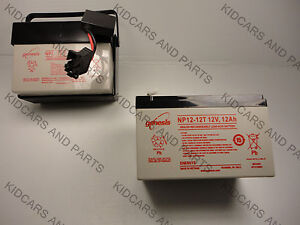 LITTLE TIKES HUMMER BARE REPLACEMENT BATTERY 12 VOLT  12 AH + NO WIRES OR PLUG+