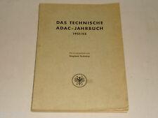 Taschenbuch Fahrzeug PKW LKW KFZ Technik: Das technische ADAC Jahrbuch 1951/52