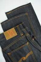 UVP $179 Nudie Slim Jim Org. Trocken Broken Twill Herren W30/L32 Raw Jeans 5309_