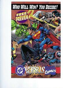 MARVEL VS DC  - PREVIEW   PROMO COMIC       - MARVEL - DC  COMICS