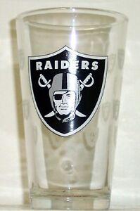 Las Vegas Raiders 16 oz Satin Etch Logo Pint Glass (1 Glass)