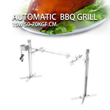 GOOD Large Grill Rotisserie Spit Roaster Rod Charcoal BBQ Pig Chicken 15W Motor