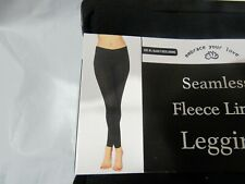 Embrace your Love Fleece Lined Seamless Leggings Black M/L