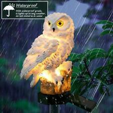 Novedad Luces solares del jardín Búho Ornamento Pájaro De Animales Decoración Escultura al Aire Libre del LED