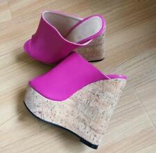 Sexy EXTREME High Heels Wedge Sandalen Platform Sandalen Damenschuhe Holz-Optik