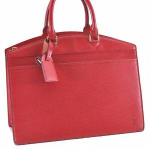 Authentic Louis Vuitton Epi Riviera Hand Bag Red M48187 LV D3232