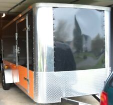 6X12 Enclosed CARGO/MOTORCYCLE TRAILER, Finished Interior, Harley Colors