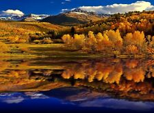 STUNNING MOUNTAIN FOREST LAKE CANVAS PICTURE POSTER PRINT UNFRAMED 6451