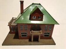 LIONEL Vintage Prewar # 191 Metal Villa Original Brown Green Roof EUC