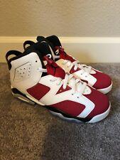 Air Jordan 6 Retro GS Carmine Red White Black  Size 6.5 Promo Sample