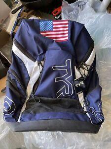 TYR 45L Alliance Usa Flag Navy Blue White Backpack