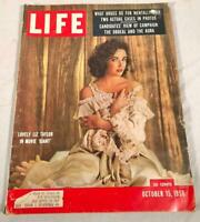 VTG OCT 15 1956 LIFE MAGAZINE LIZ TAYLOR IN THE MOVIE GIANT COVER PHOTO