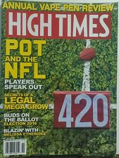 High Times Nov 2016 Pot and the NFL Annual Vape Pen Preview FREE SHIPPING sb