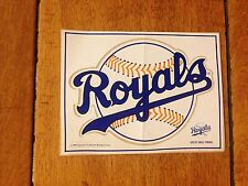 VINTAGE 1980'S KANSAS CITY ROYALS DECAL