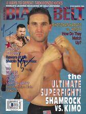 Ken Shamrock & Kimo Leopoldo Signed March 1996 Black Belt Magazine BAS COA UFC 8