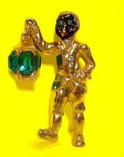 Vintage Black Americana Blackamoor Pin Brooch Broach Lantern Boy Jewelry RARE!!