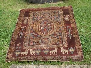 old oriental rug animal motiff estate acquired free shipping