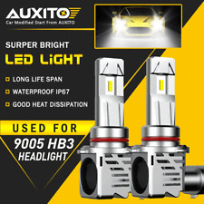 AUXITO 9005 LED Headlight Bulb White High Beam for GMC Sierra Yukon XL 24000LM