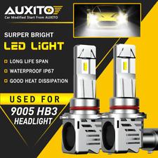 AUXITO 9005 LED Headlight Bulb White High Beam for GMC Sierra Yukon XL 24000LM
