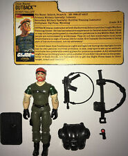 GI Joe Night Force 1988 Outback Complete With File Card