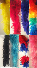 Fancy Dress FEATHER BOA. Red, Black, Pink, Yellow, Blue. DANCE/ HEN DO/ SHOW