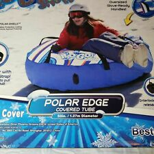 Bestway H2go Edge Inflatable Kids Snow Tube Fabric Cover Blue (open Box)