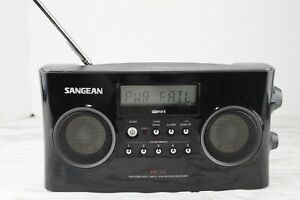 Sangean PR-D5 FM Stereo RDS  AM PLL Radio Synthesized Receiver Black Tested 4/12