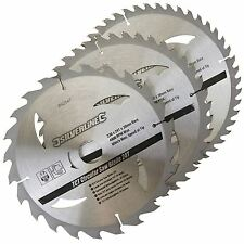 3 Circular Mitre Saw Blades 230mm Diameter 30mm Bore 25 20 & 16mm Bushes 892547