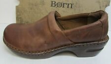 Born Size 11 Brown Leather Clogs New Womens Shoes
