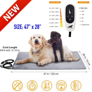 XXL Heated Pet Dog Cat House Warm Mat Waterproof Electric Heating Pad Large Bed