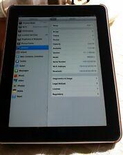 Apple iPad MB292LL A1219 1st Gen. 16GB, Wi-Fi, 9.7in - Black. Rotating case.