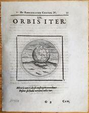 Camerarius Emblemata Emblem Lobster Orbis iter - 1661