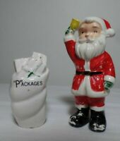 Santa and Packages Salt and Pepper Shakers Antique