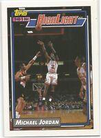 Michael Jordan Highlights Topps 1992/93 NBA Basketball Card #3