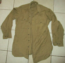 Original 1944 Dated Us Army Enlisted Mustard Wool Shirt 15 X 32