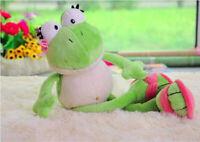 Green Frog Stuffed Animal Frogs Cartoon Animal  Plush Soft Doll Toy For Kid 35cm