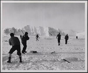 Photo:Coast Guardsman,playing baseball,Bering Sea,1953 8551