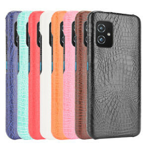 For ASUS Zenfone 8 ZS590KS Crocodile PU Leather Skin PC Hard Phone Case
