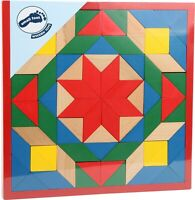 Small Foot Coloured wooden mosaic puzzle Game Toy 1038