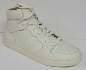 POLO RALPH LAUREN JORY CALFSKIN HIGH TOP SNEAKERS CREAM LEATHER SHOES CHOICE NEW