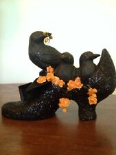 Bethany Lowe Halloween Crows In A Witch Shoe--Retired