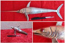 Magnifique poisson en argent - Espadon - Travail espagnol XXe  siècle - 36 cm