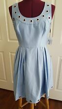 Calvin Klein women's dress. Gorgeous and classy casual blue dress. SZ 6 NWT