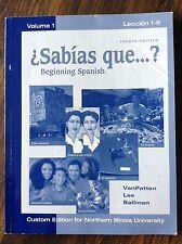 Sabías que...? Beginning Spanish Volume 1 Lección 1-6 store#5468