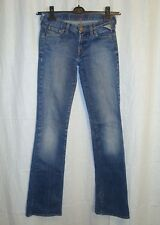 Ladies REPLAY W442 slim bootcut stretch blue jeans W26 L34 great cond LOVELY