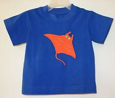 New Kelly's Kids David Royal Blue Appliqued Stingray Shirt Size 6M