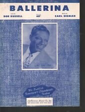 Balerina 1947 Nat King Cole Sheet Music