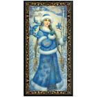 Внешний вид - Russian Lacquer Box w/ Snegurochka Snow Maiden Art, New Year Christmas Keepsake