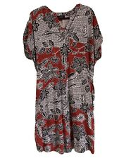 Ladies Atmosphere Black & Red Print Casual Dress Size 20 Plus Size G/C