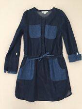 Near New Girls Country Road Long Sleeve Denim Dress Size 8